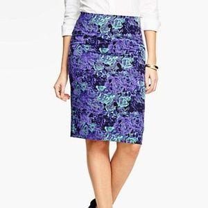 Talbots Petites Floral Jacquard Pencil Skirt (14P)